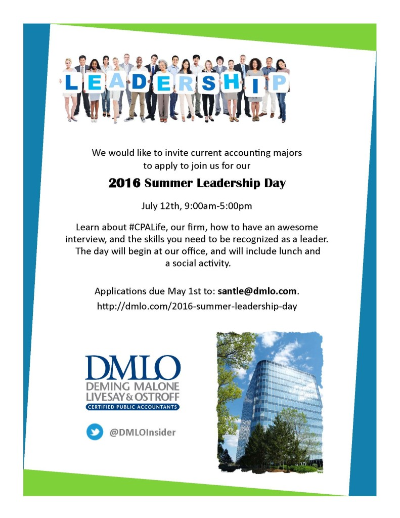 2016 Leadership Day Flyer