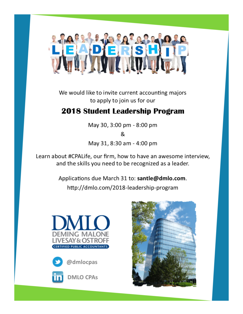 2018 Leadership Program Flyer