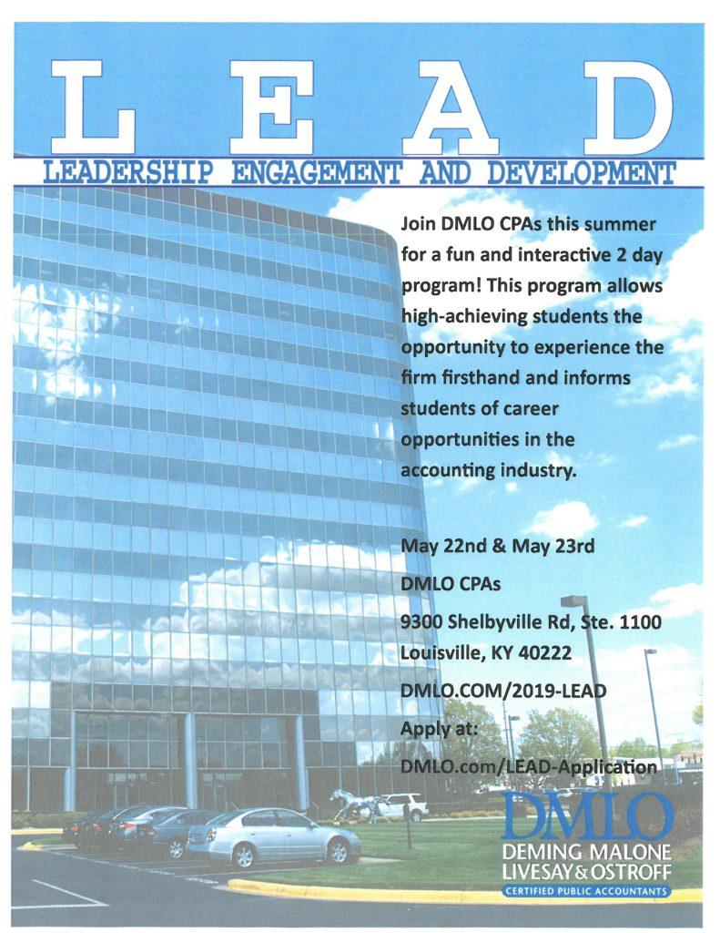 DMLO CPAs LEAD Program Flyer