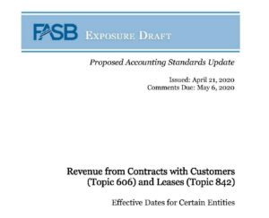 FASB Exposure Draft