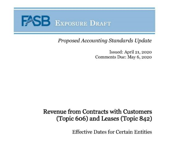 FASB Exposure Draft