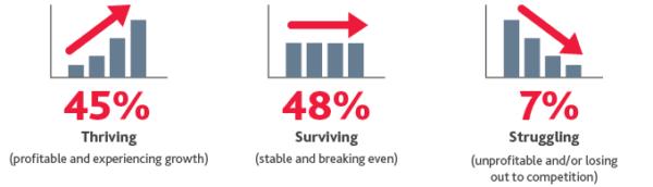 Surviving Thriving Struggling
